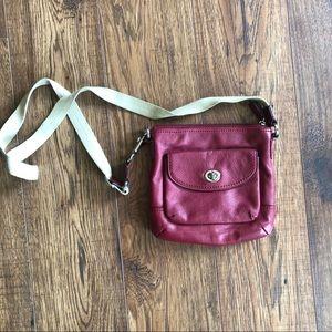Coach Park Cherry Leather Swingpack Cross-body Bag